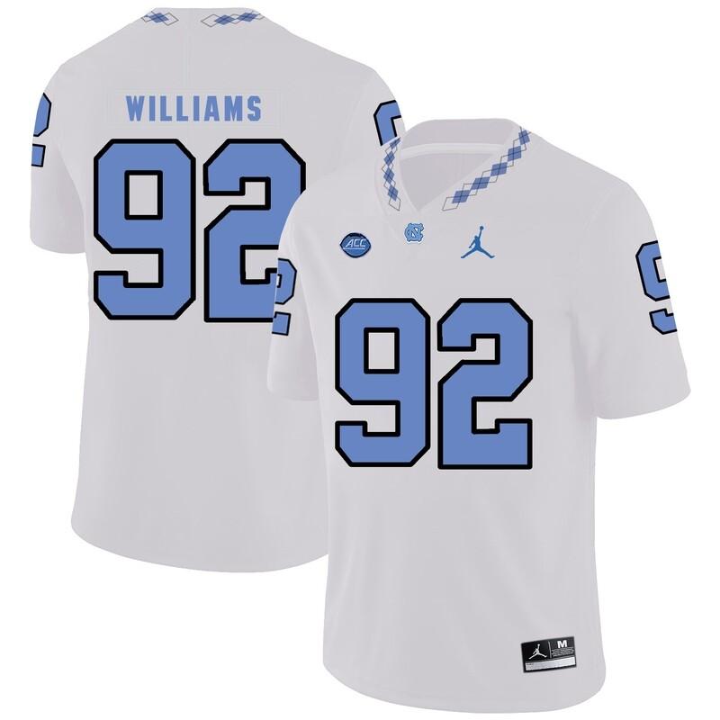 North Carolina Tar Heels #92 Sylvester Williams Football Jersey White