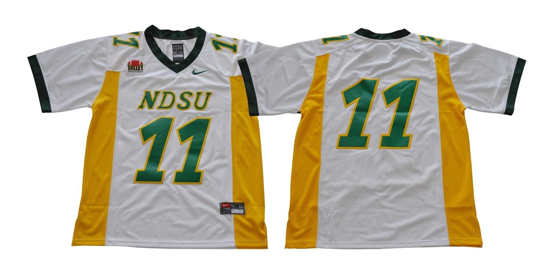 North Dakota State Bison #11 Carson Wentz Football Jersey White