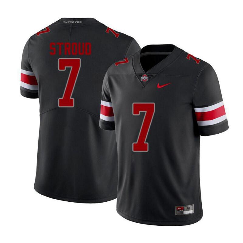 Ohio State Buckeyes #7 C.J. Stroud Limited Black Alumni Football Jersey