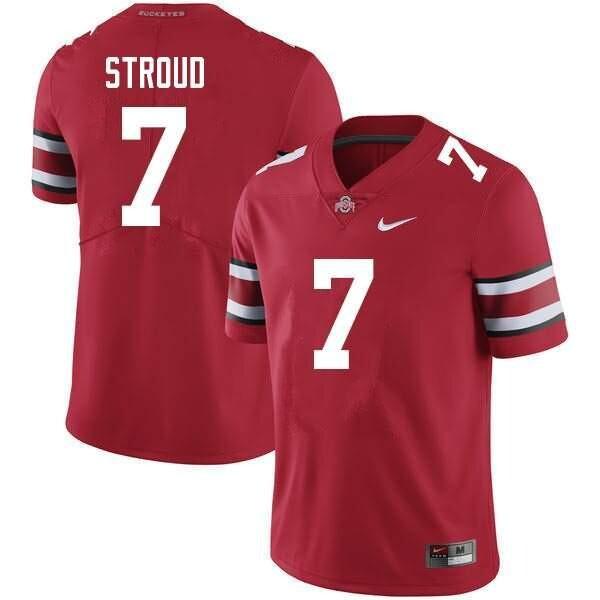 Ohio State Buckeyes #7 C.J. Stroud Scarlet NCAA College Football Jersey