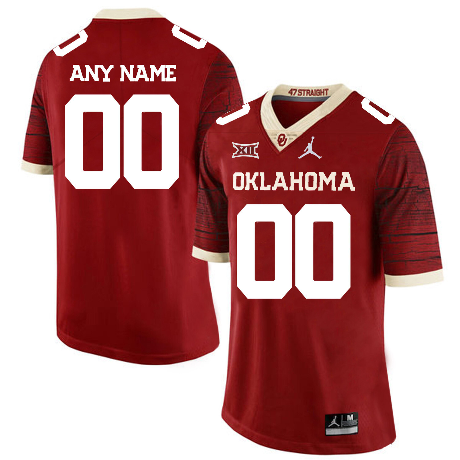 Oklahoma Sooners Custom Name and Number Football Jersey Red