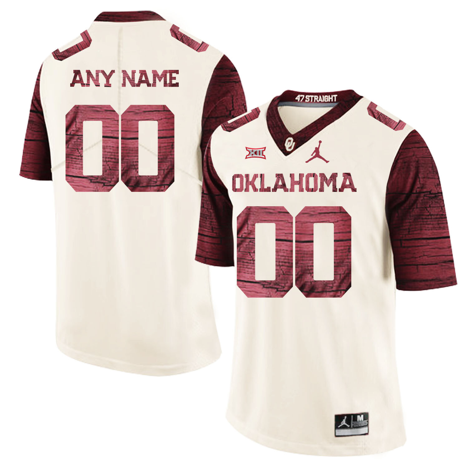 Oklahoma Sooners Custom Name and Number Football Jersey White Stitched