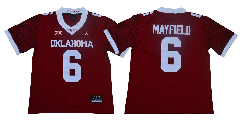 Oklahoma Sooners #6 Baker Mayfield Football Jersey Legendary Red