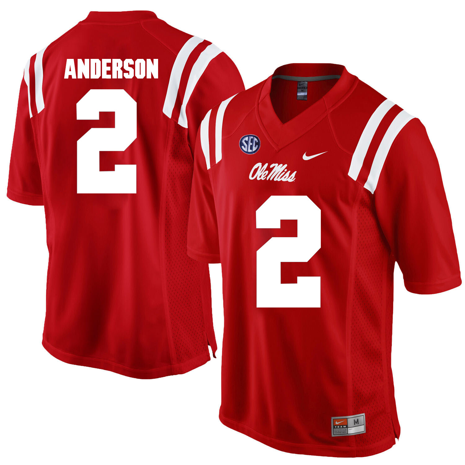 Ole Miss Rebels #2 Deontay Anderson NCAA College Football Jersey Red