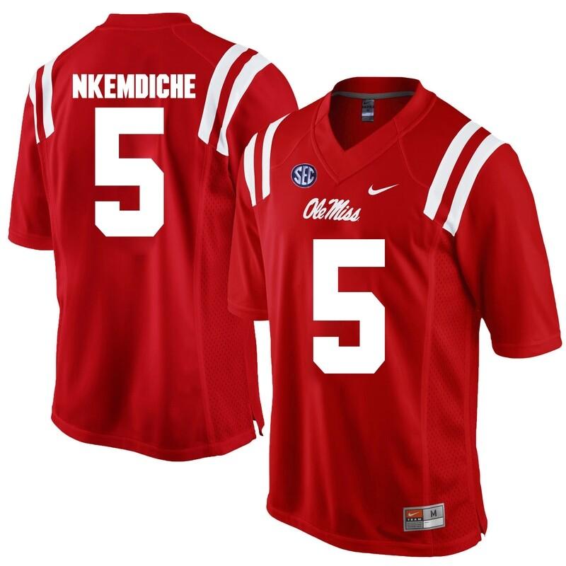 Ole Miss Rebels #5 Robert Nkemdiche NCAA College Football Jersey Red