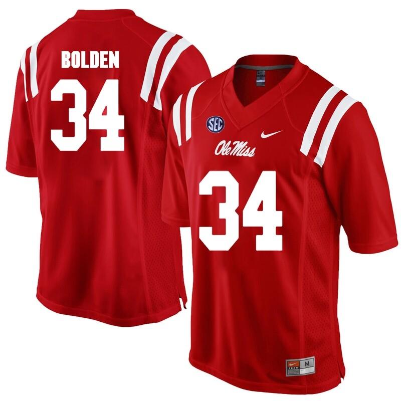 Ole Miss Rebels # 34 Brandon Bolden NCAA Football Jersey