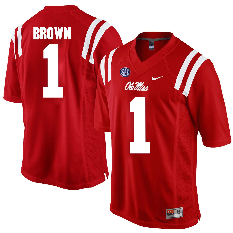 Ole Miss Rebels #1 A.J. Brown NCAA Football Jersey