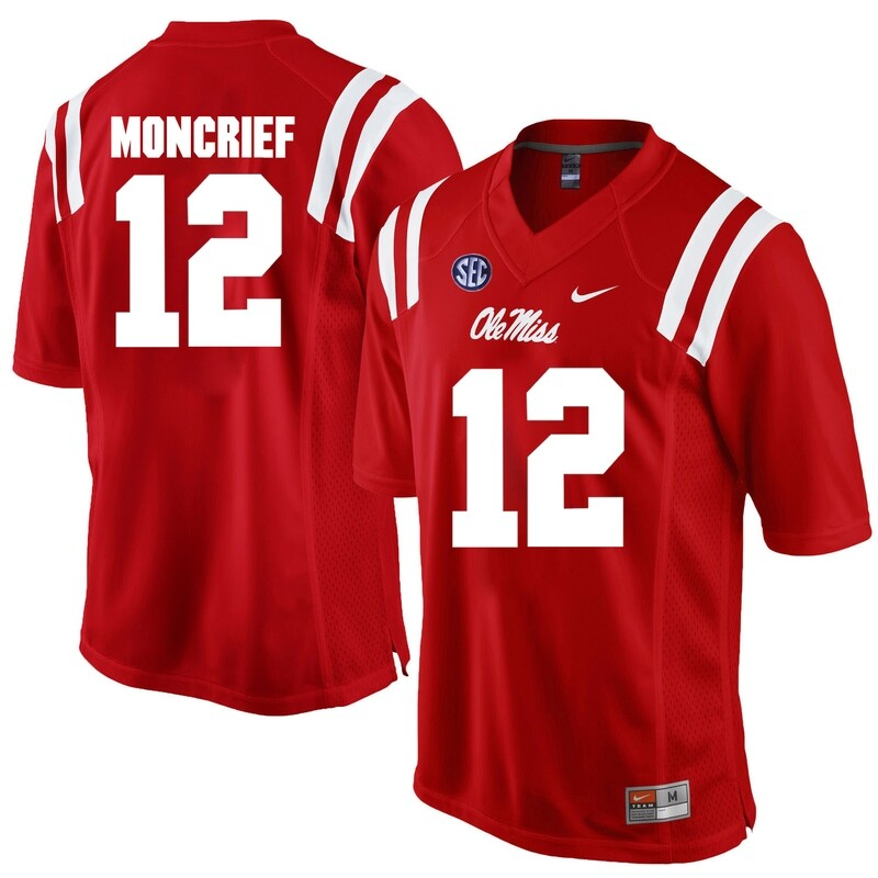 Ole Miss Rebels #12 Donte Moncrief NCAA College Football Jersey Red