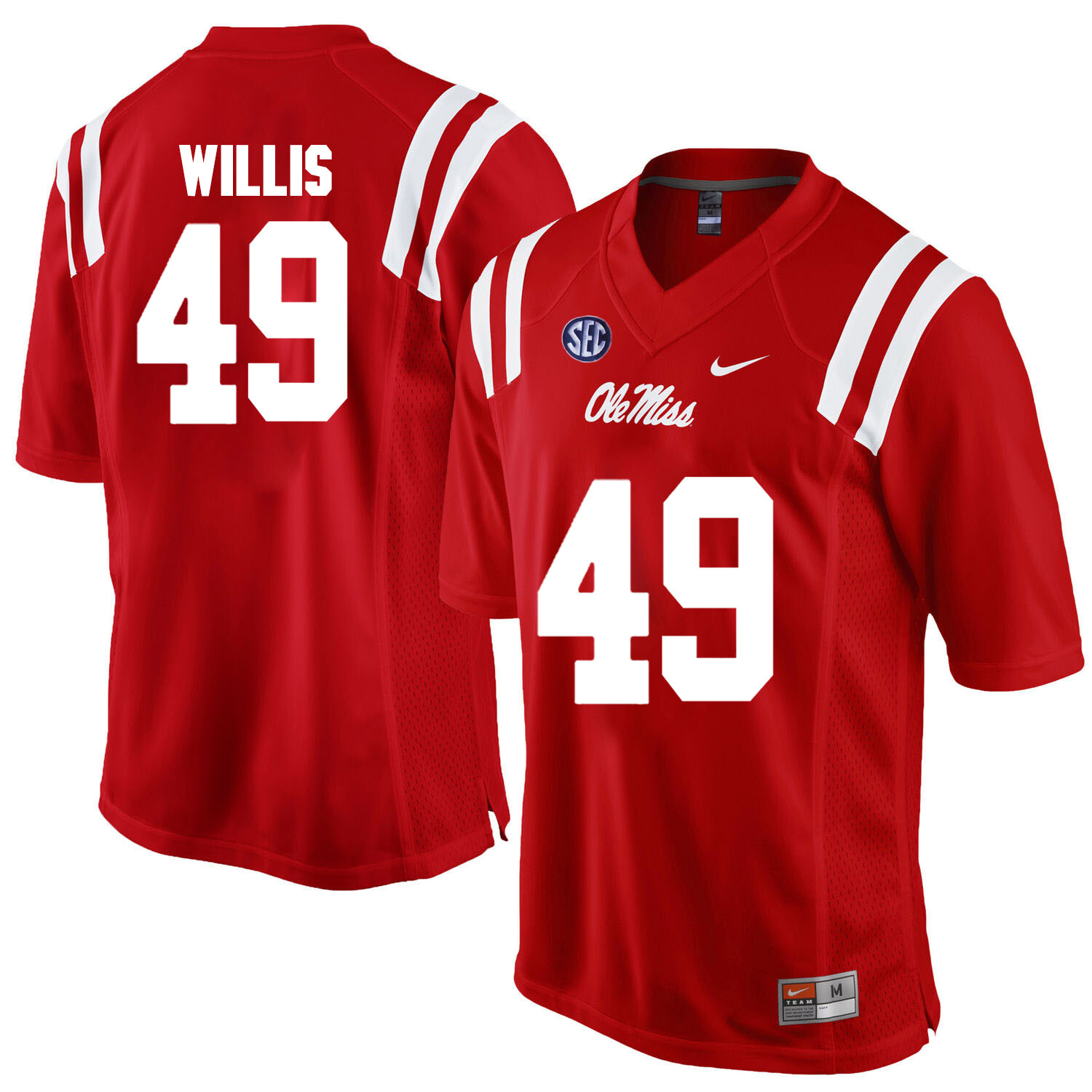Ole Miss Rebels #49 Patrick Willis NCAA College Football Jersey Red
