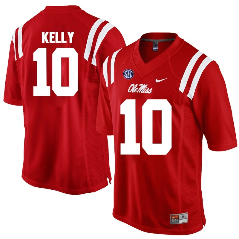 Ole Miss Rebels #10 Chad Kelly NCAA College Football Jersey Red