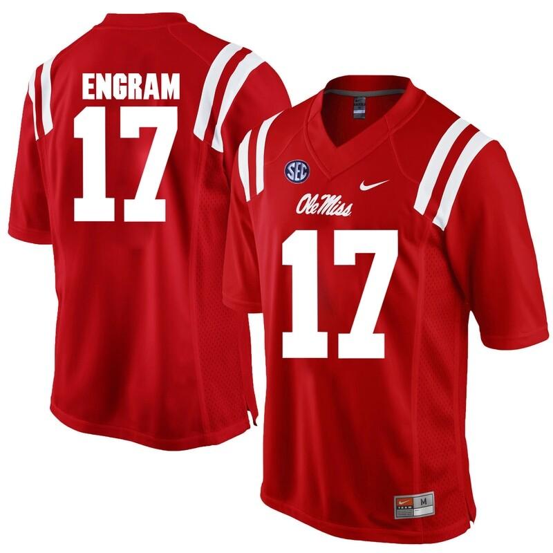 Ole Miss Rebels #17 Evan Engram NCAA College Football Jersey Red
