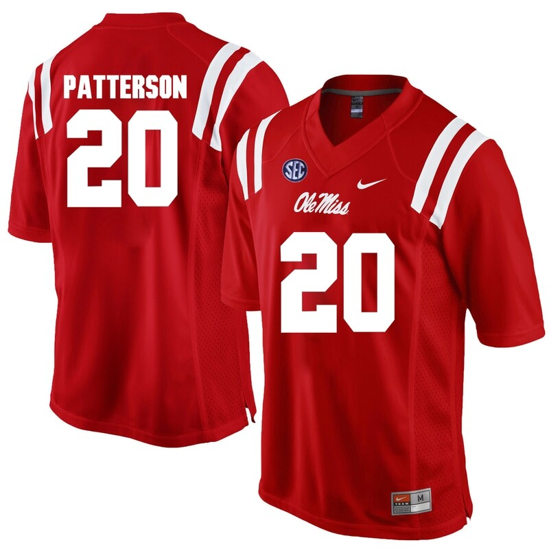 Ole Miss Rebels #20 Shea Patterson NCAA College Football Jersey Red
