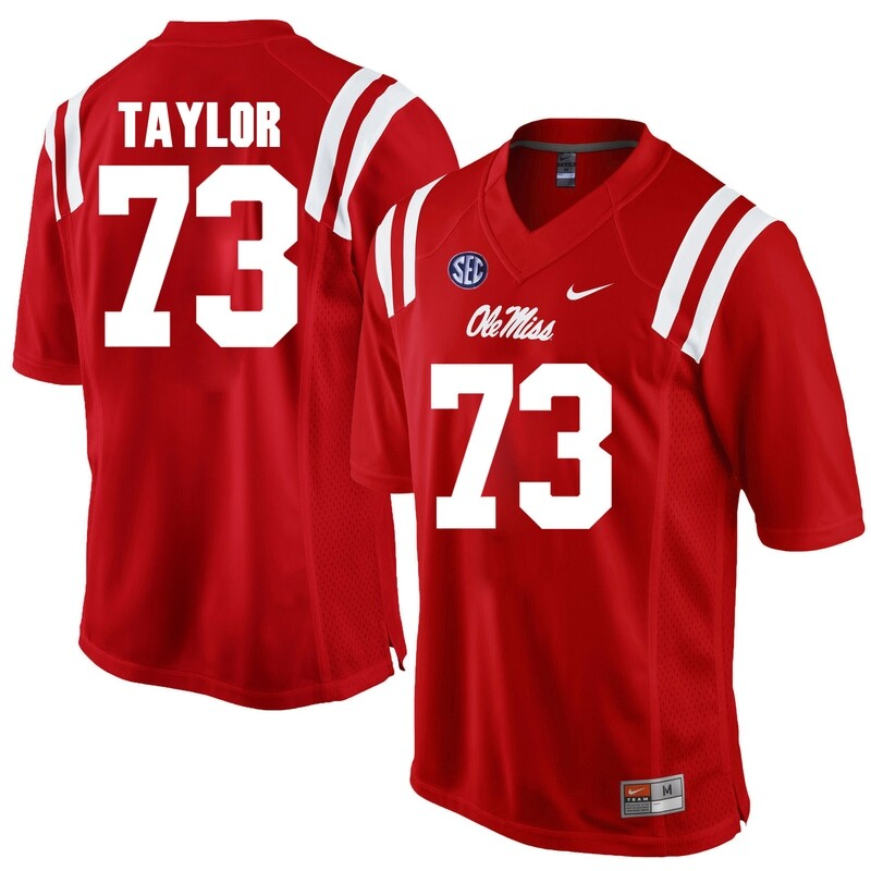 Ole Miss Rebels #73 Rod Taylor NCAA College Football Jersey Red