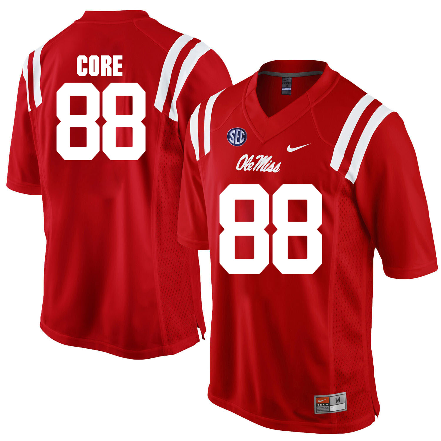 Ole Miss Rebels #88 Cody Core NCAA College Football Jersey Red