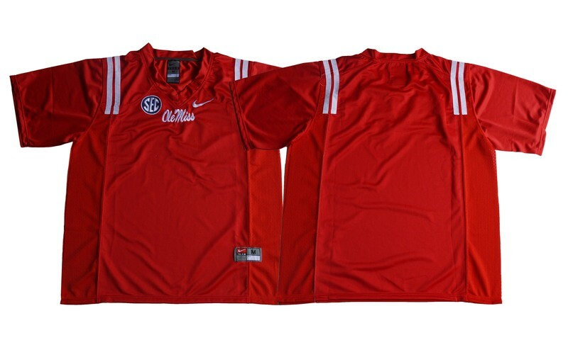 Ole Miss Rebels Blank Edition Red NCAA College Football Jersey Red