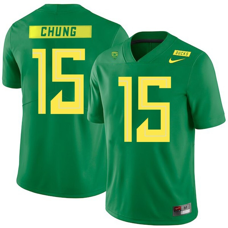 Oregon Ducks #15 Patrick Chung NCAA College Football Jersey Green