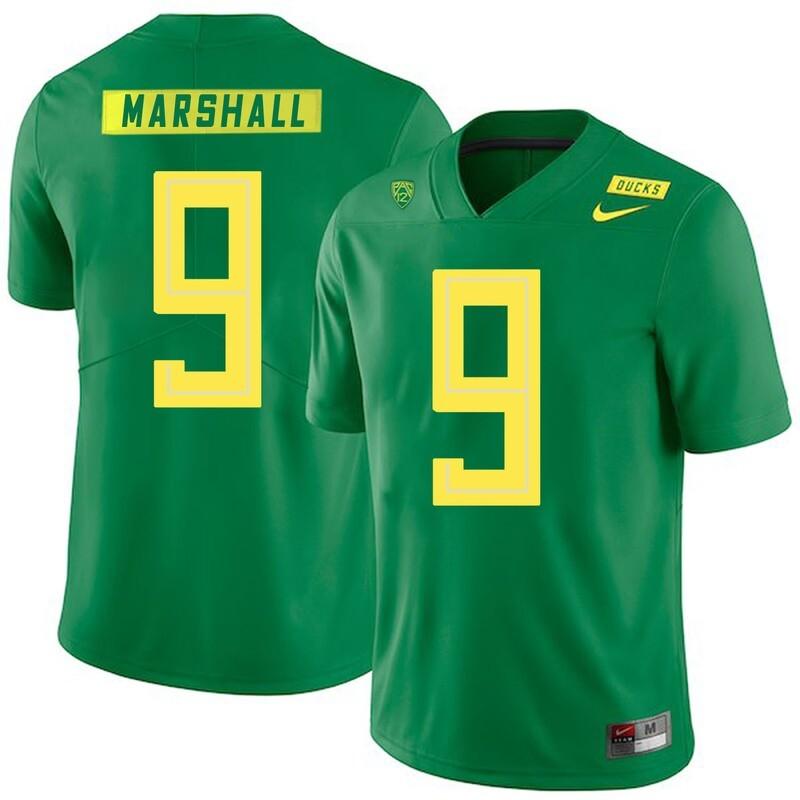 Oregon Ducks #9 Byron Marshall NCAA College Football Jersey Green
