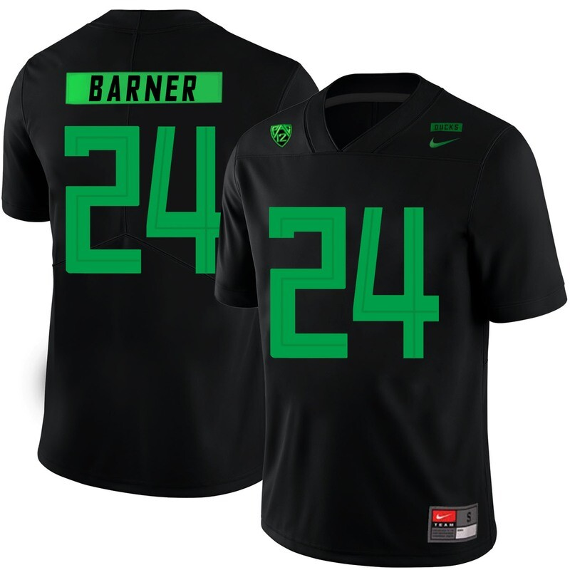 Oregon Ducks #24 Kenjon Barner NCAA College Football Jersey Black