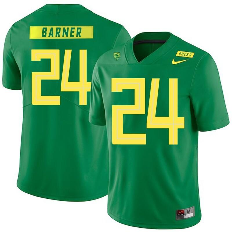 Oregon Ducks #24 Kenjon Barner NCAA College Football Jersey Green
