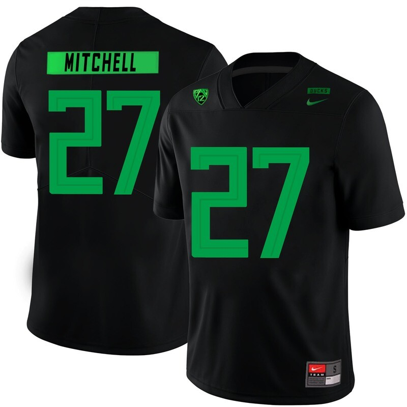 Oregon Ducks #27 Terrance Mitchell College Football Jersey Black