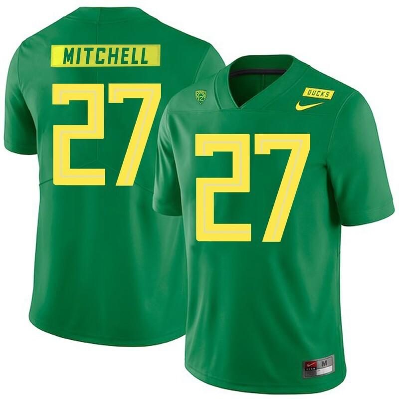 Oregon Ducks #27 Terrance Mitchell College Football Jersey Green
