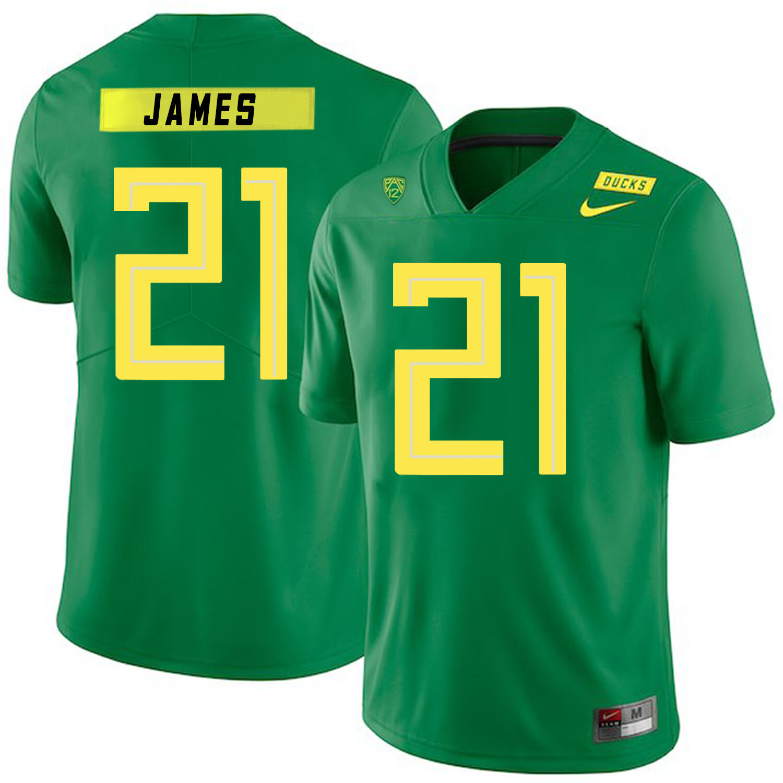 Oregon Ducks #21 LaMichael James NCAA College Football Jersey Green