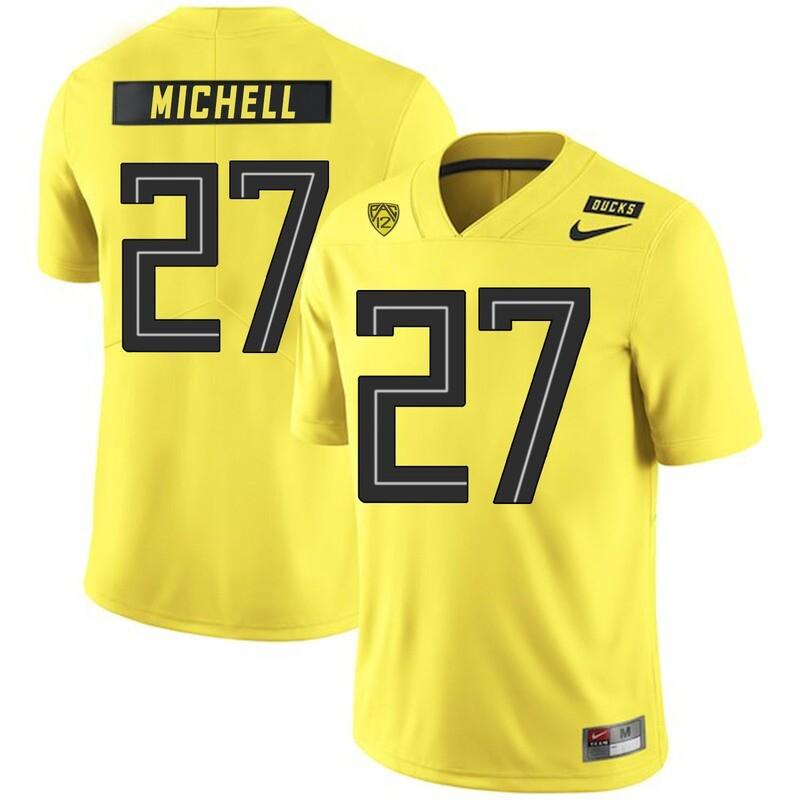 Oregon Ducks #27 Terrance Mitchell College Football Jersey Yellow