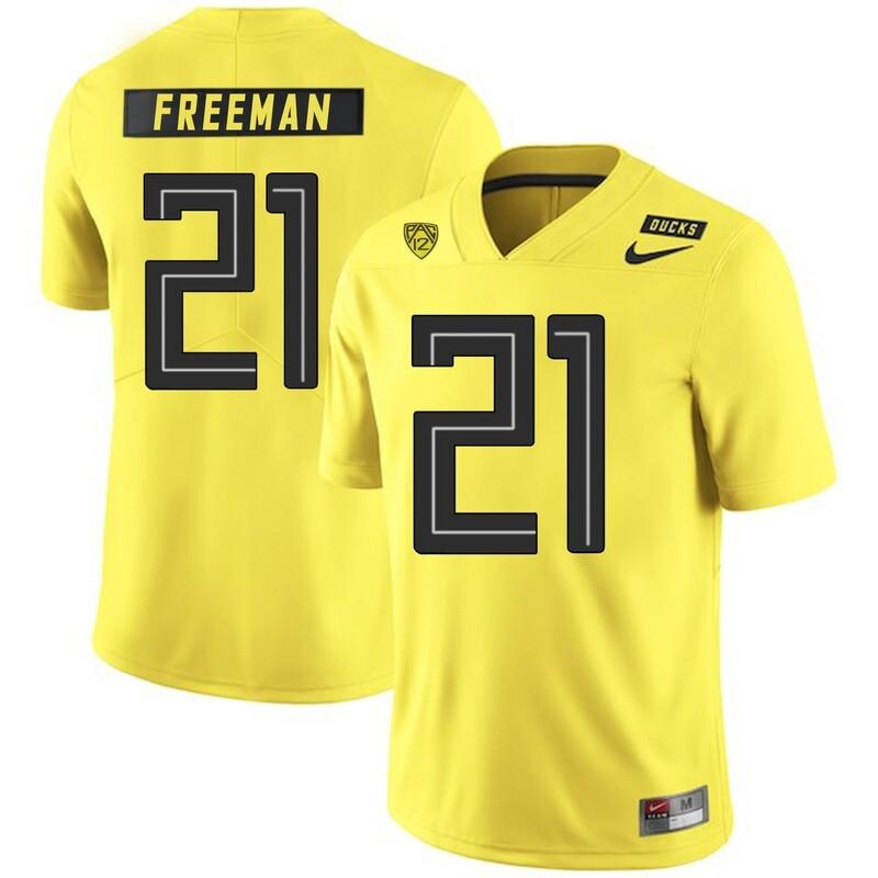 Oregon Ducks #21 Royce Freeman NCAA College Football Jersey Yellow