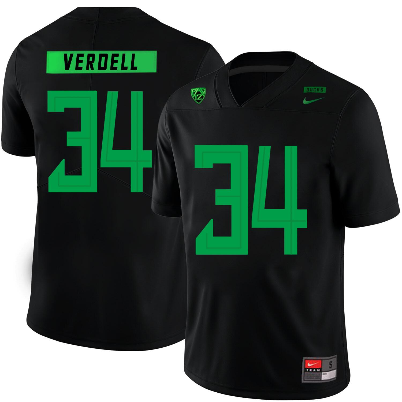 Oregon Ducks #34 CJ Verdell College Football Jersey Black