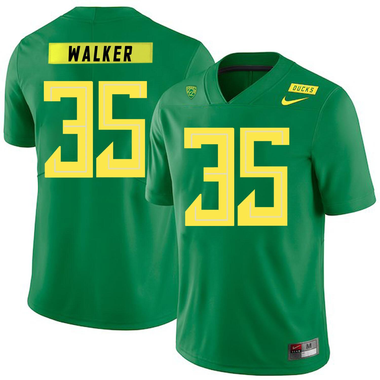 Oregon Ducks #35 Joe Walker College Football Jersey Green
