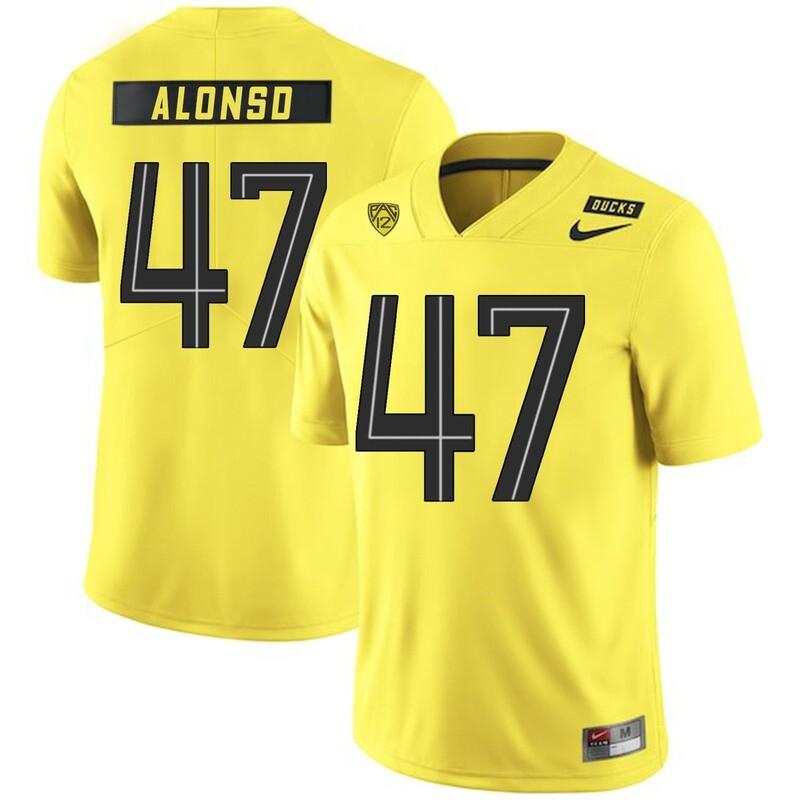 Oregon Ducks #47 Kiko Alonso NCAA College Football Jersey Yellow