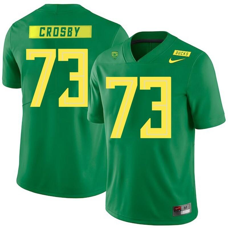 Oregon Ducks #73 Tyrell Crosby NCAA College Football Jersey Green
