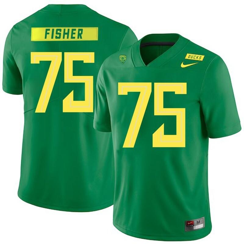 Oregon Ducks #75 Jake Fisher NCAA College Football Jersey Green