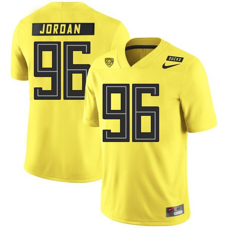 Oregon Ducks #96 Dion Jordan NCAA College Football Jersey Yellow