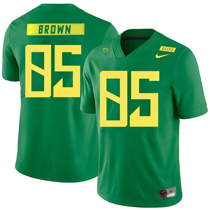 Oregon Ducks #85 Pharaoh Brown NCAA College Football Jersey Green
