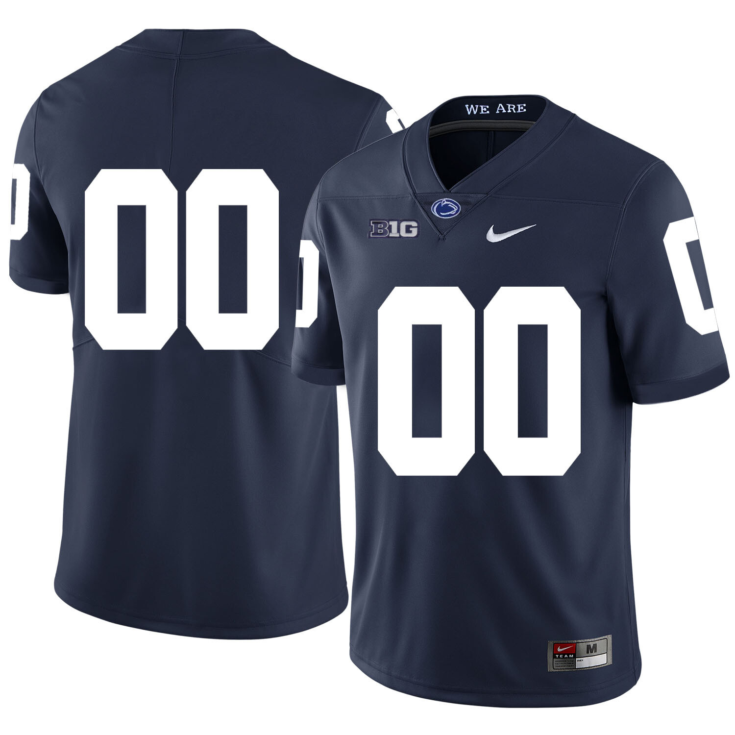 Penn State Nittany Lions Custom Name Number Football Jersey Dark Blue With Patch