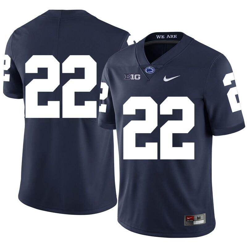 Penn State Nittany Lions #22 John Cappelletti Football Jersey No Name Dark Blue