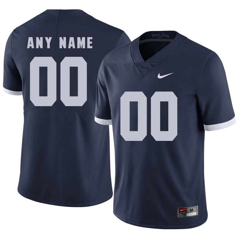 Penn State Nittany Lions Custom Name Number Football Jersey Dark Blue