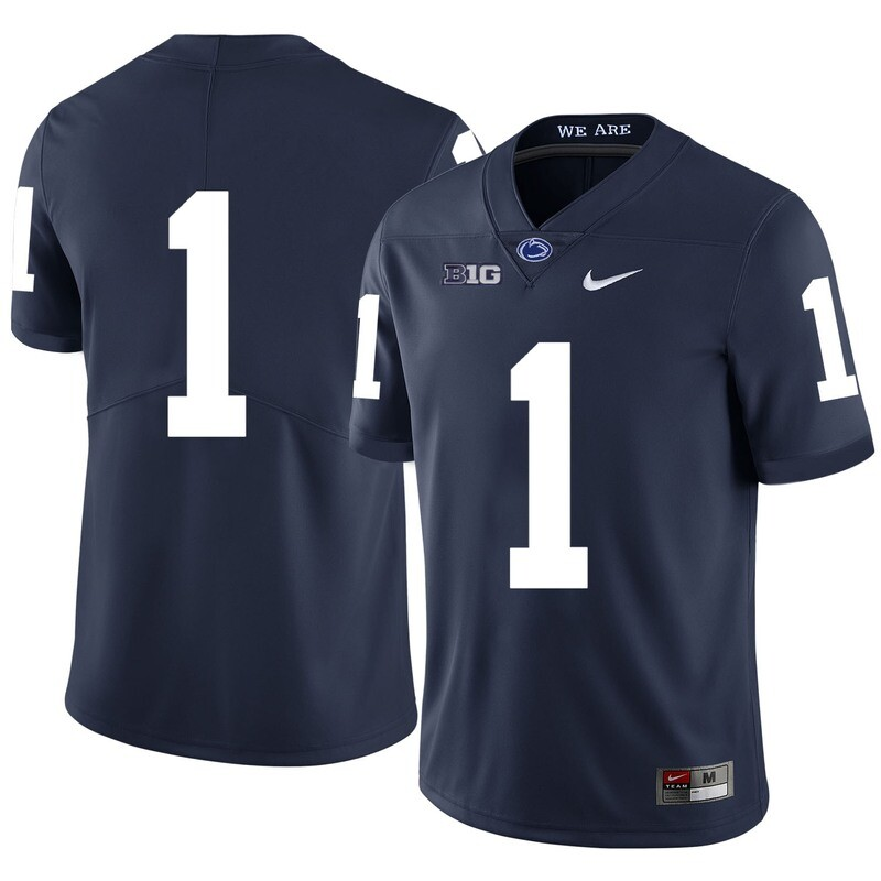 Penn State Nittany Lions #1 No Name College Football Jersey Dark Blue