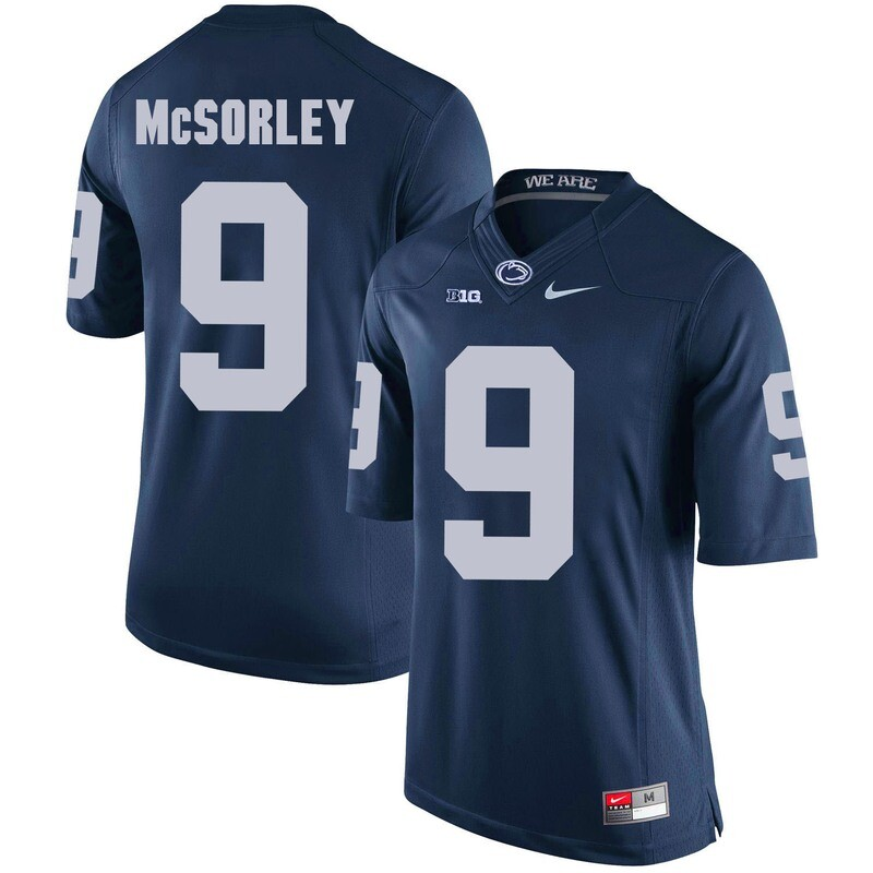 Penn State Nittany Lions #9 Trace McSorley Football Jersey Dark Blue