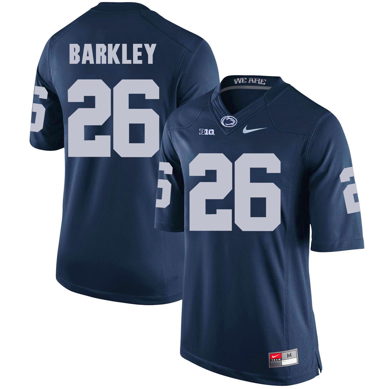 Penn State Nittany Lions #26 Saquon Barkley Football Jersey Dark Blue