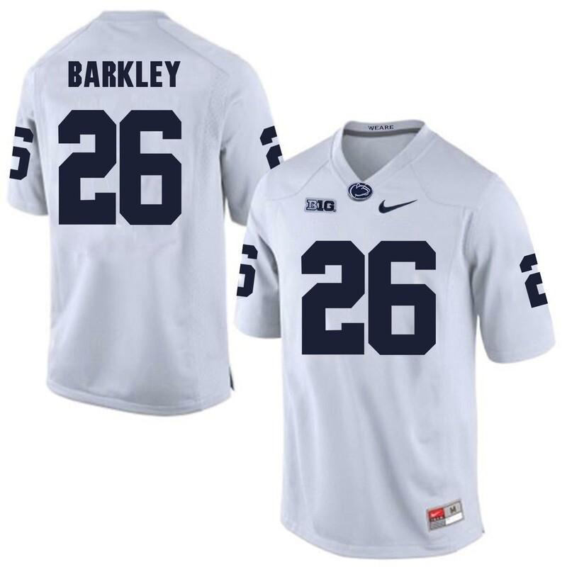 Penn State Nittany Lions #26 Saquon Barkley Football Jersey White