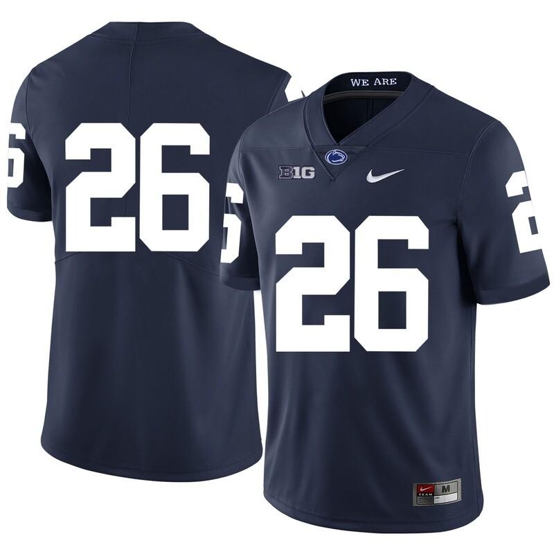 Penn State Nittany Lions #26 Saquon Barkley Football Jersey No Name Dark Blue