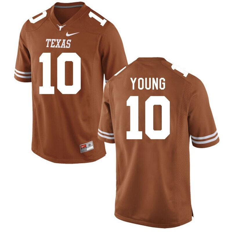 Texas Longhorns #10 Vince Young College Football Jersey Orange