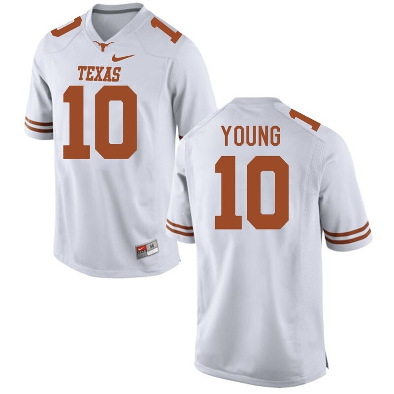 Texas Longhorns #10 Vince Young College Football Jersey White