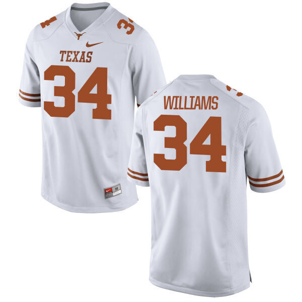 Texas Longhorns #34 Ricky Williams College Football Jersey White