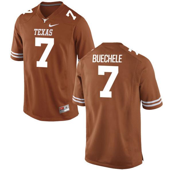 Texas Longhorns #7 Shane Buechele College Football Jersey Dark Orange