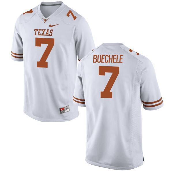 Texas Longhorns #7 Shane Buechele College Football Jersey White