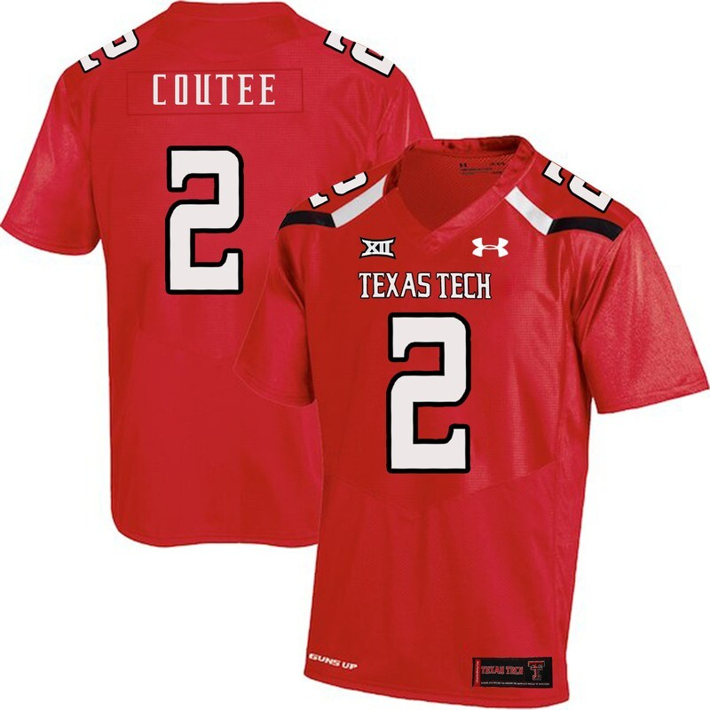 Texas Tech #2 Keke Coutee NCAA College Football Jersey Red