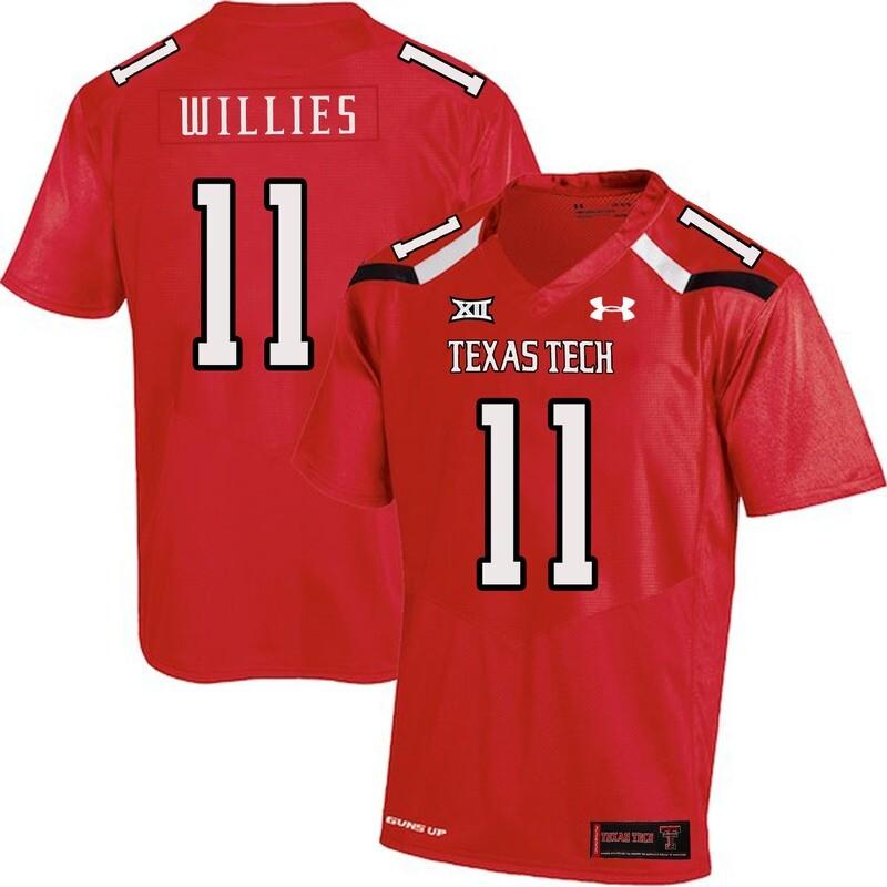 Texas Tech #11 Derrick Willies NCAA College Football Jersey Red